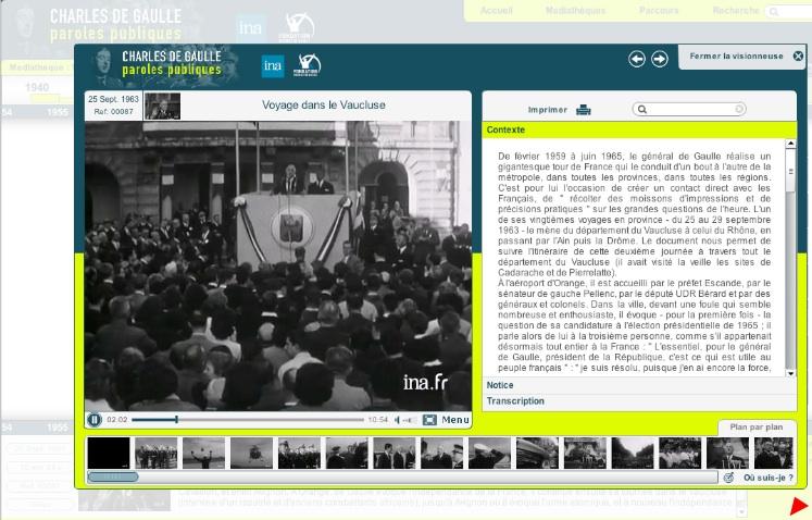 Le fresque interactif Charles de Gaulle paroles publiques